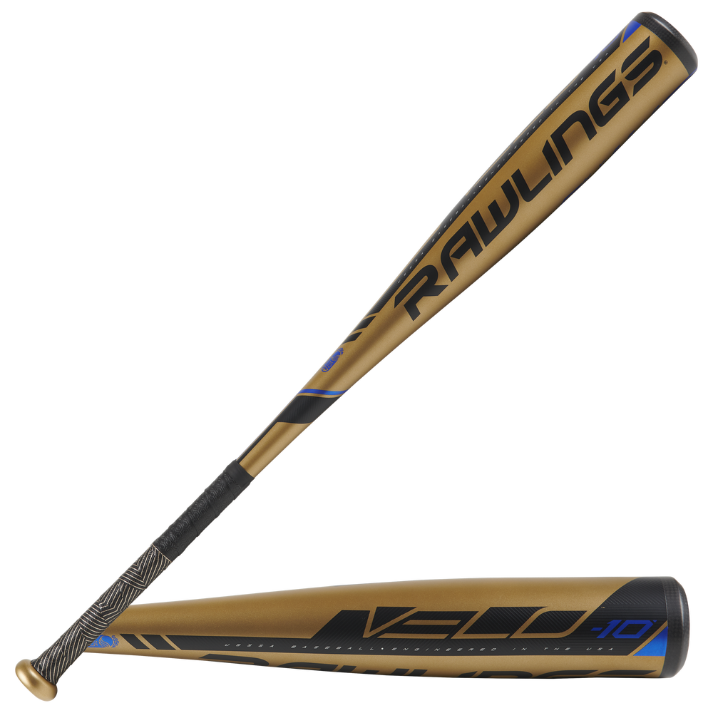 Rawlings Velo Youth Baseball Bat - Grade School / Gold/Black   -10 oz / 2 3/4 Barrel