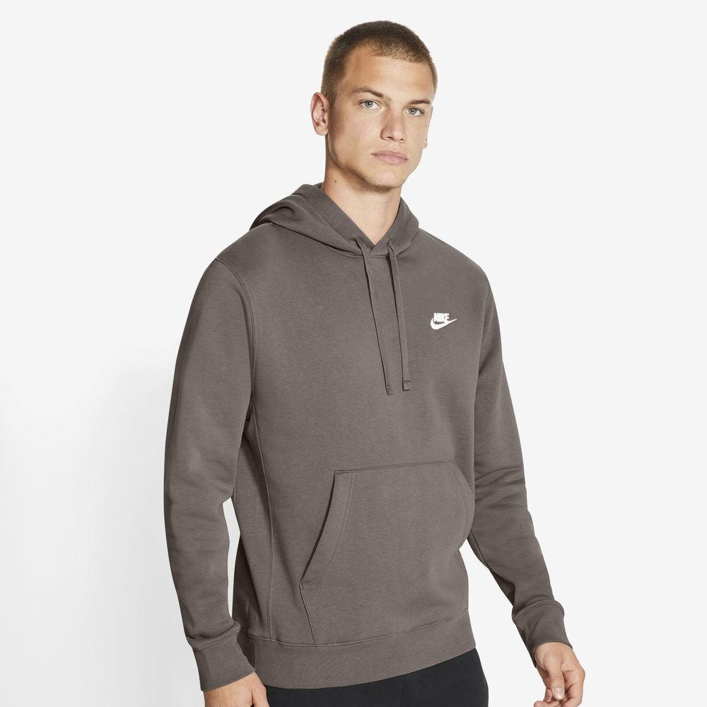 Nike Club Pullover Hoodie - Mens / Olive Grey/Olive Grey/White