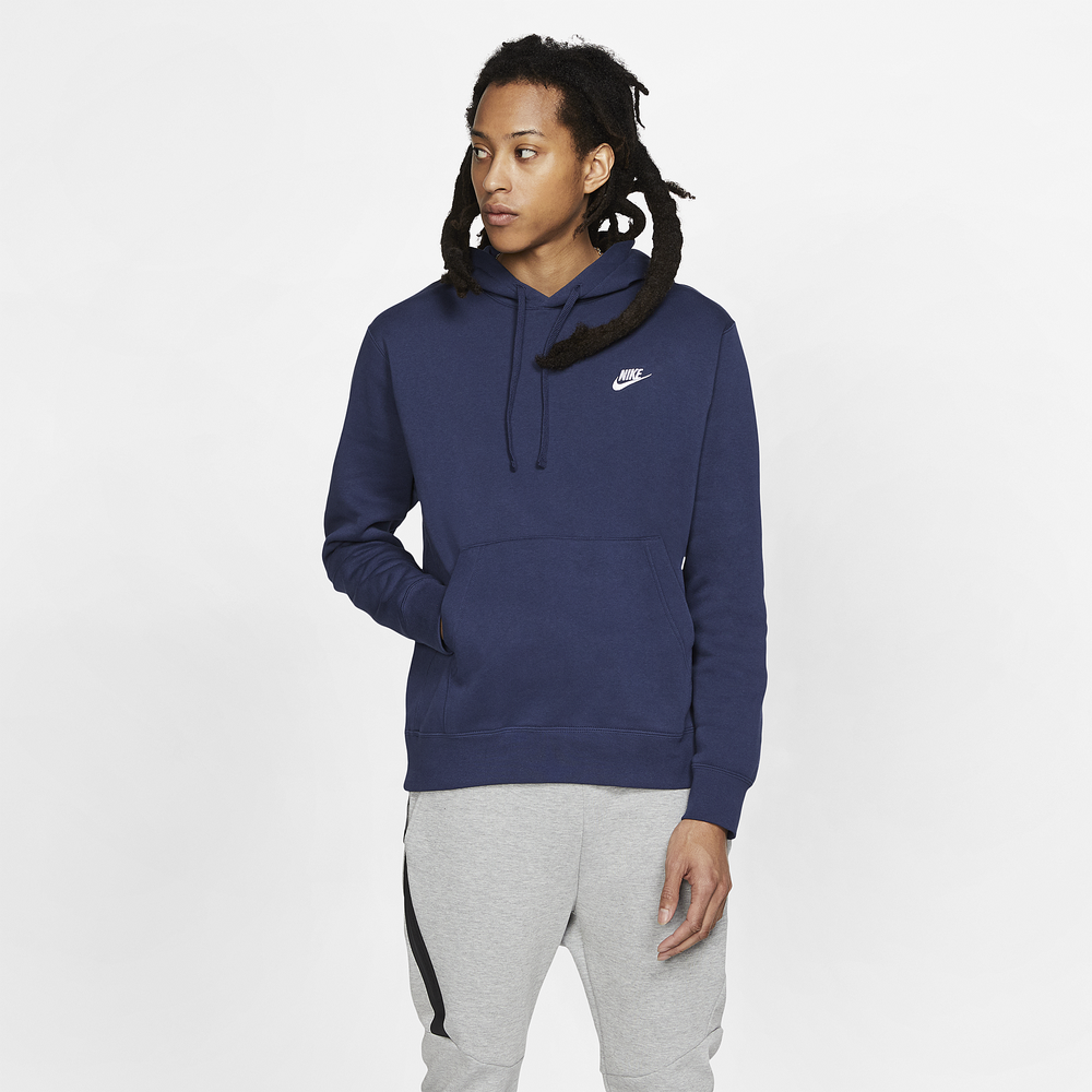 Nike Club Pullover Hoodie - Mens / Midnight Navy/White