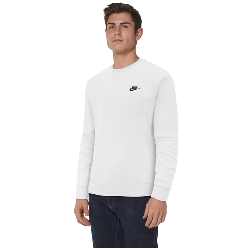 Your new closet staple is here. Nike\\\'s Club Crew features the classic softness of fleece and iconic Nike graphics on the chest. Ribbing at the hem and cuffs holds the crew in place. 82% cotton/18% polyester. Imported.