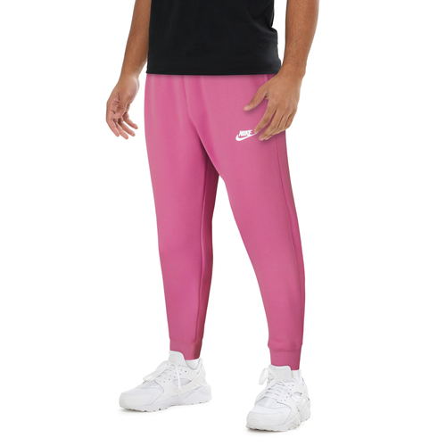 Get back to your style roots with Nike\\\'s classic Club Joggers. Brushed fleece keeps you warm and comfortable, and ribbed cuffs let you show off your favorite shoes. Elastic waistband and drawcord let you adjust the fit. 80% cotton/20% polyester. Imported.