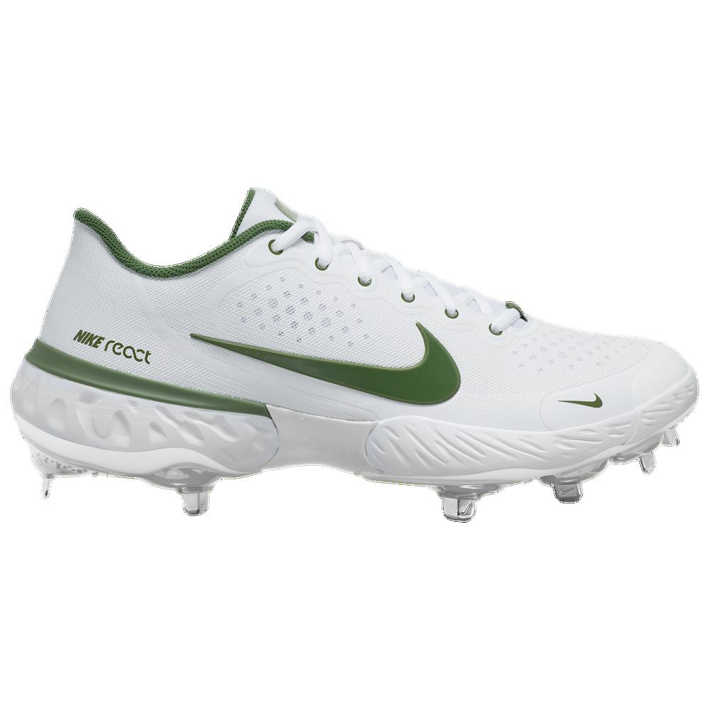 Nike Alpha Huarache Elite 3 Low - Mens / White/Forest Green/White
