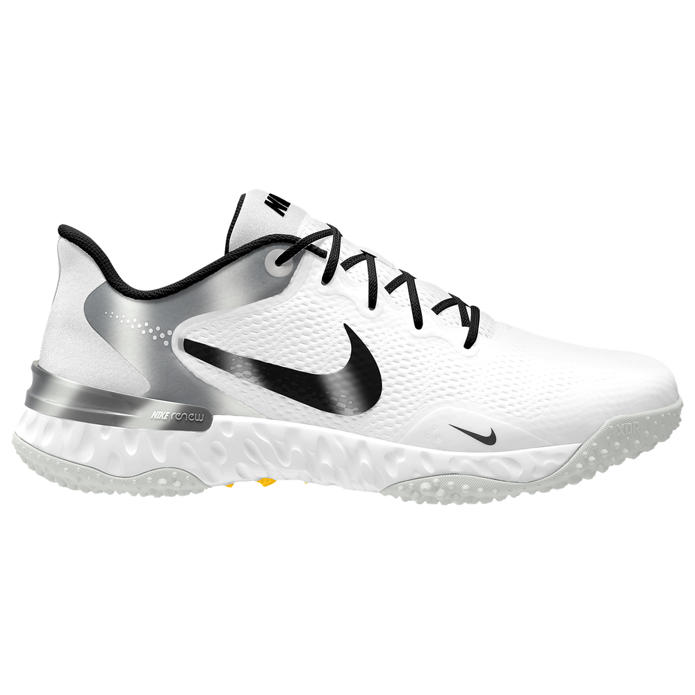 Nike Alpha Huarache Elite 3 Turf - Mens / White/Dark Smoke Grey/Black