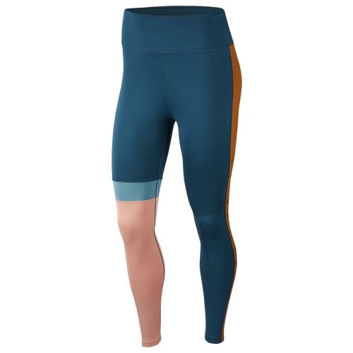 Optimize your workout outfit with the Nike One Hi-Rise JDI 7/8 Club Tights. Sweat-wicking fabric and bold color blocking make these tights a must-have for your training wardrobe. Dri-FIT technology keeps you dry, comfortable, and focused. Slide-in back pocket offers secure storage. Drop-in side pocket for additional storage. Mid rise waist provides extra coverage. 83% recycled polyester / 17% spandex. Imported.