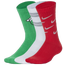 Nike Christmas 3 Pack Crew Socks - Boys' Grade School
