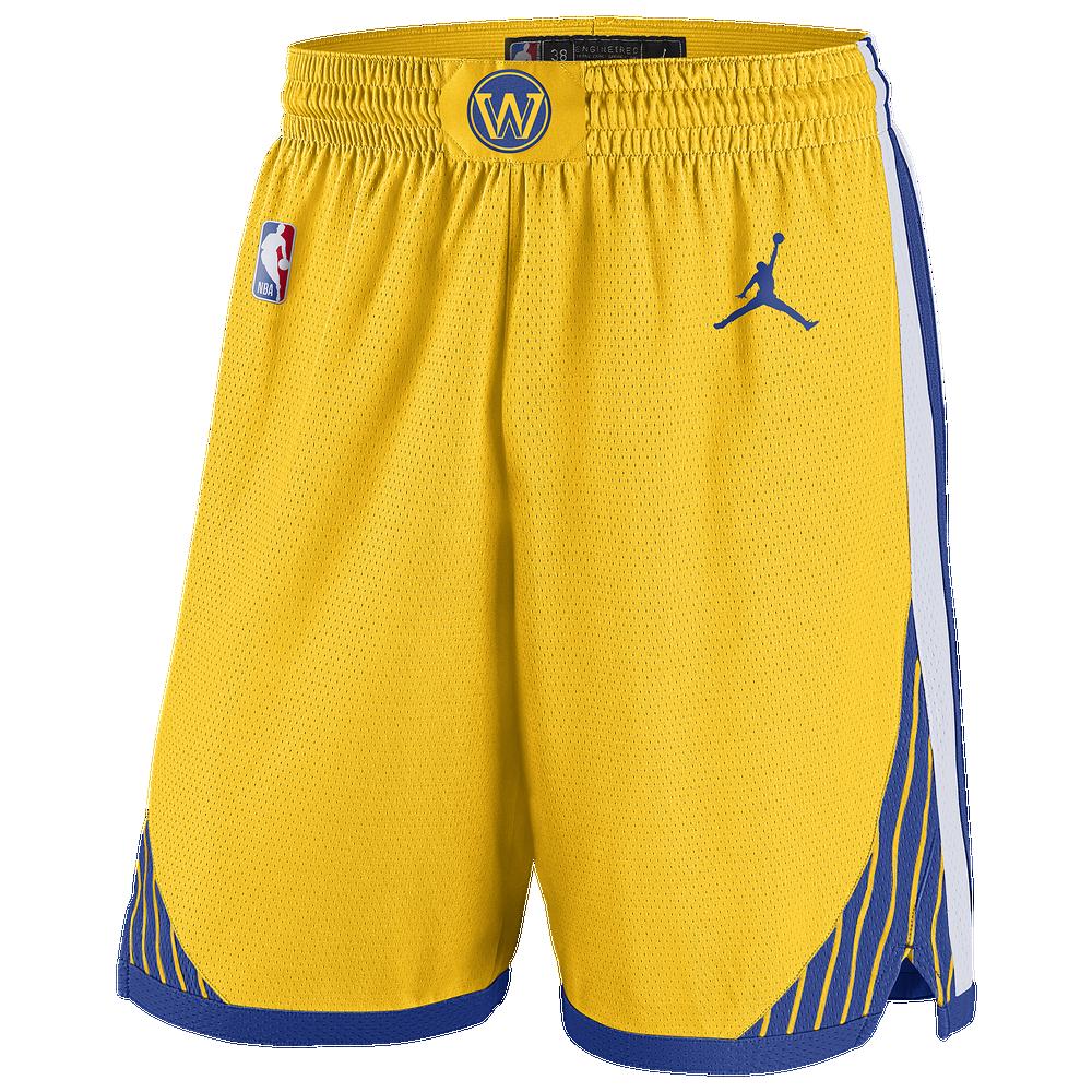 Jordan NBA Statement Swingman Shorts - Mens / NBA | Golden State Warriors | Amarillo/Rush Blue