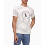Calvin Klein Monogram Pinstripe T-Shirt - Men's