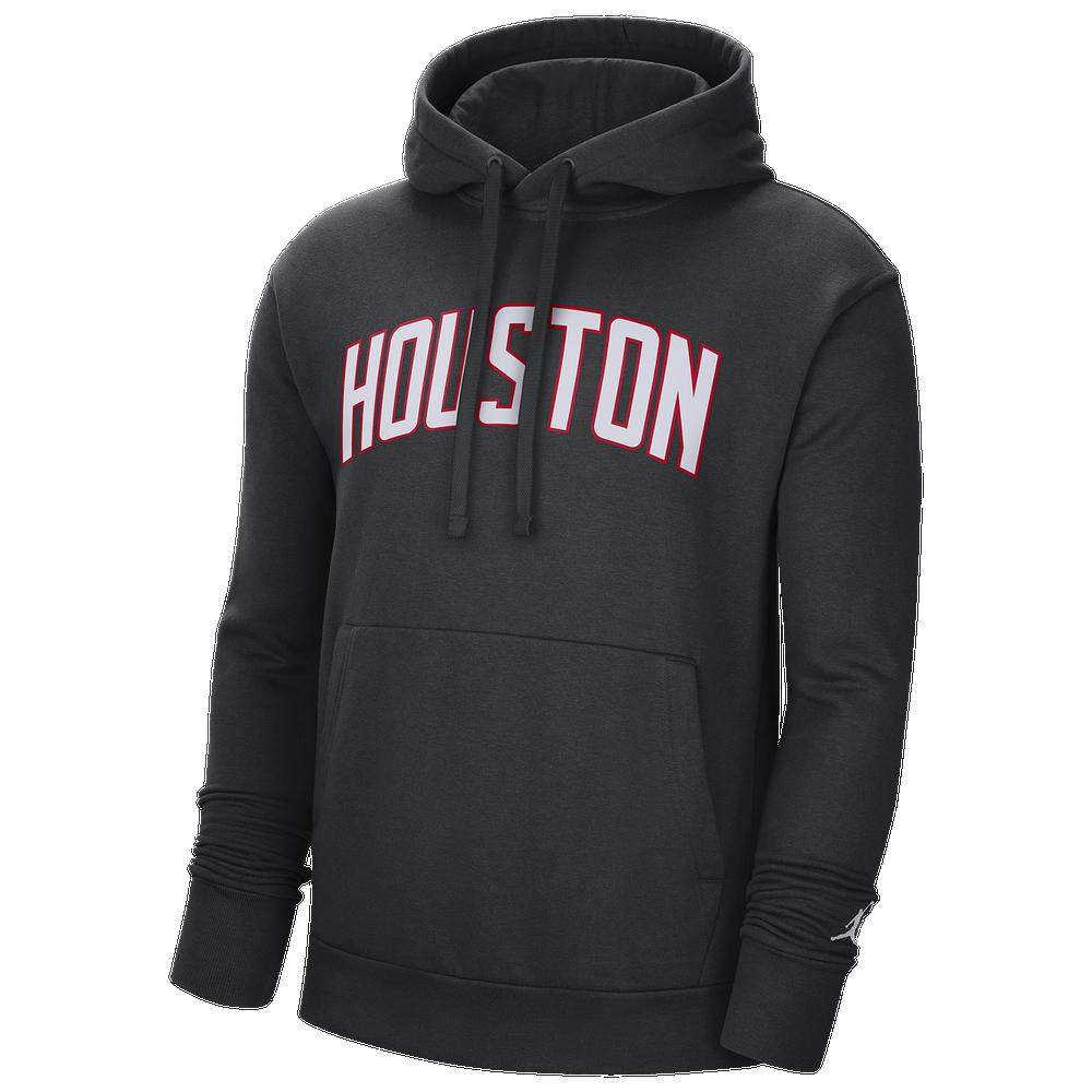 Jordan NBA Statement PO Fleece Hoodie - Mens / NBA | Houston Rockets | Black/Flint Silver