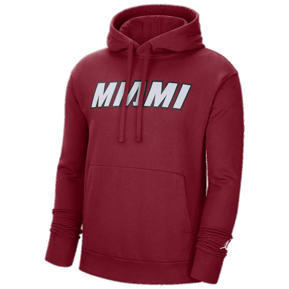 Jordan NBA Statement PO Fleece Hoodie - Mens / NBA | Miami Heat | Tough Red/White