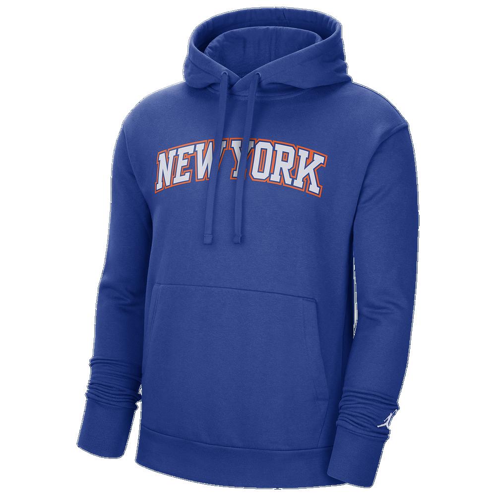 Jordan NBA Statement PO Fleece Hoodie - Mens / NBA | New York Knicks | Rush Blue/White