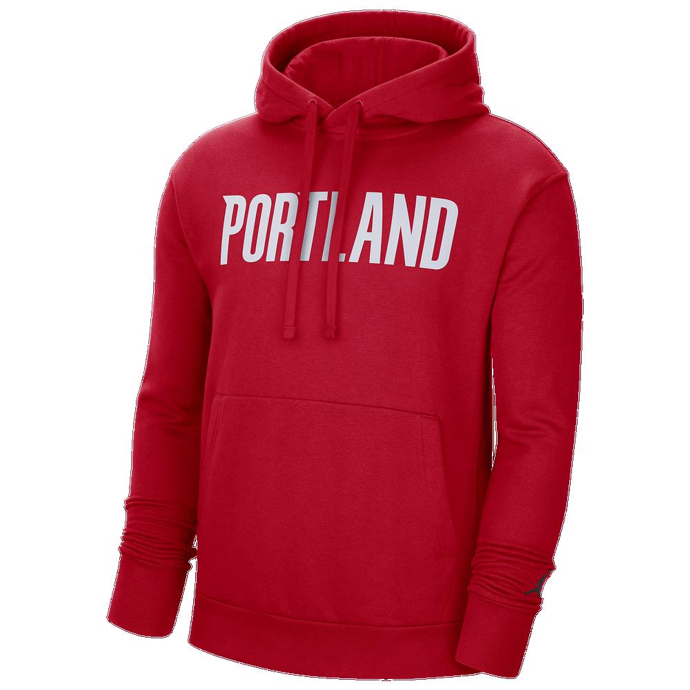 Jordan NBA Statement PO Fleece Hoodie - Mens / Univeristy Red/Black