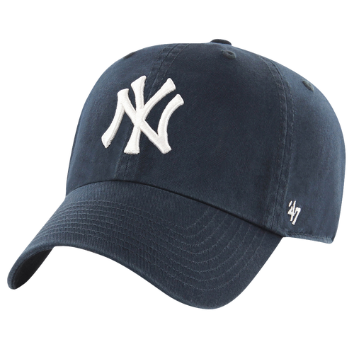 47 brand male new york yankees 47 brand mlb clean up cap mens navy