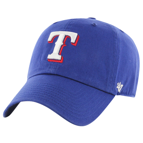 47 brand male texas rangers 47 brand mlb clean up cap mens blue
