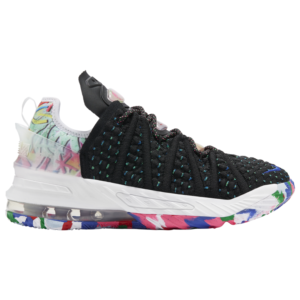 Nike LeBron 18 - Boys Grade School / Lebron James | Black/White/Multicolor