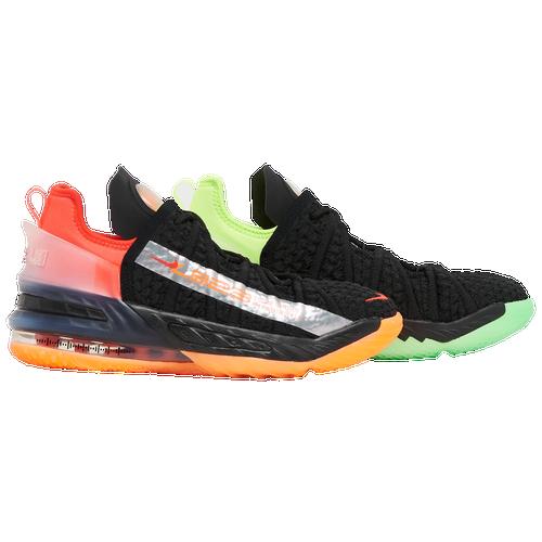 Nike Lebron 18 Little Kids' Shoe In Black/bright Crimson/orange