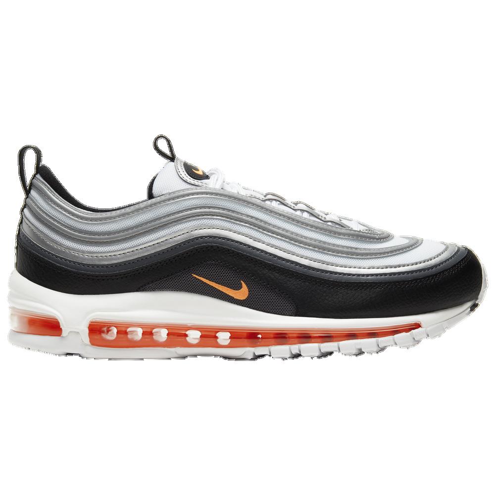 Nike Air Max 97 - Mens / White/Total Orange/Black/Smoke Grey