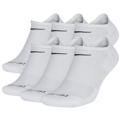 Support, Vent, HideIf you\\\'re looking for a pair of socks to keep you supported throughout the day, then these Nike 6-Pack Men\\\'s Dri-FIT Plus No-Show socks are for you. With a design that gives your feet the support they need, these socks provide you with a look that\\\'s perfect for low-top sneakers, slides, and wearing on their own. Stay DryThanks to Nike\\\'s exclusive Dri-FIT material, sweat is wicked away from your feet, so no matter what you do while wearing them, you can be sure you\\\'ll have dry feet doing it. If you\\\'ve got an activity that requires your feet to stay clean and dry – not just sports! – then these low-top socks are perfect. They\\\'re a sports sock that can easily find itself knocking around the house as much as it can on the basketball court. Nike 6-Pack Men\\\'s Dri-FIT Plus No-Show Socks Features: Dri-FIT® technology keeps you cool and comfortable no matter what. Mesh upper provides superior ventilation. No-show design provides you with low-profile silhouette. Arch band secures to your foot for extra support. Nike Swoosh logo on upper for hidden style and looks. 64-71% cotton/27-34% polyester/1% spandex/1% nylon. Imported.