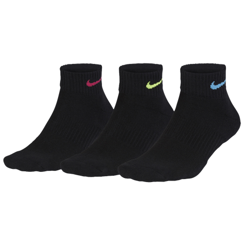 Nike 3 PK PERFORMANCE CUSHIONED QUARTER SOCKS