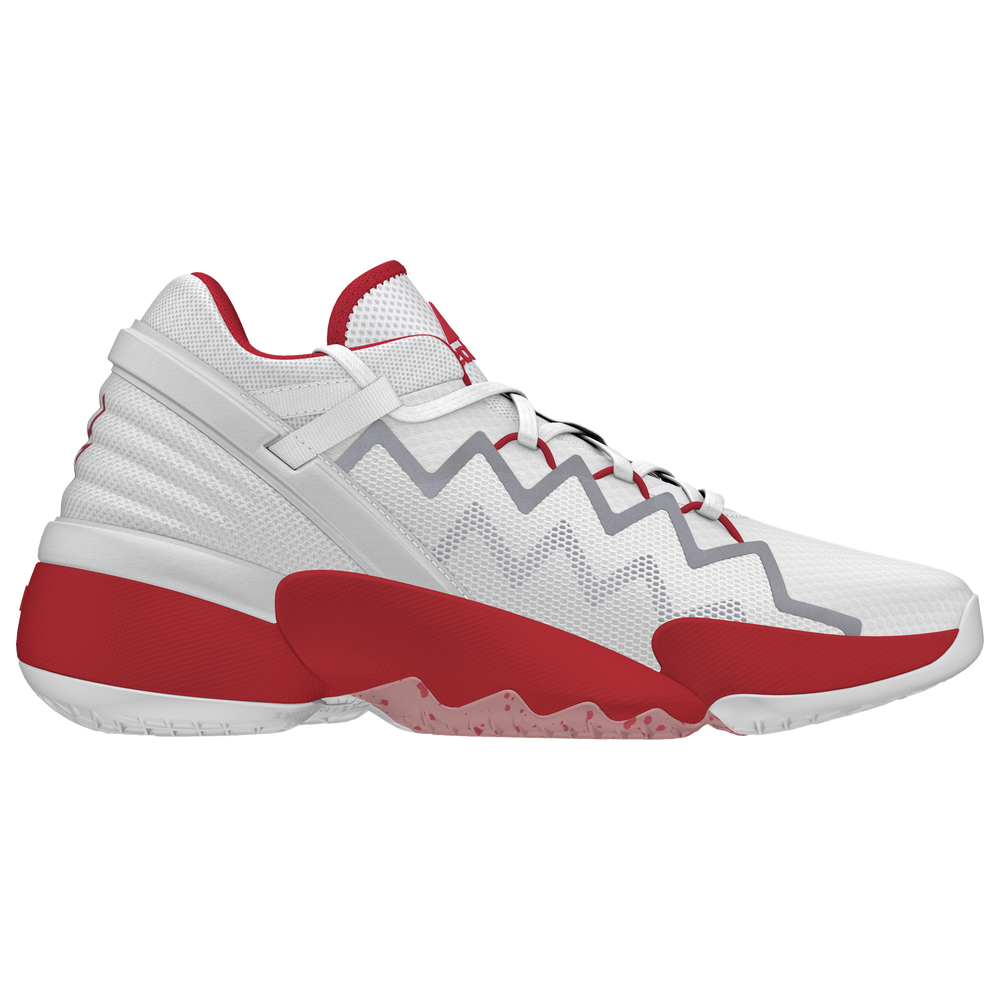 adidas D.O.N. Issue #2 - Boys Grade School / White/Scarlet