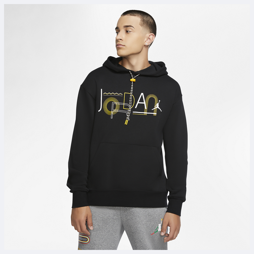 Jordan Legacy 2 Hoodie - Mens / Black/Yellow