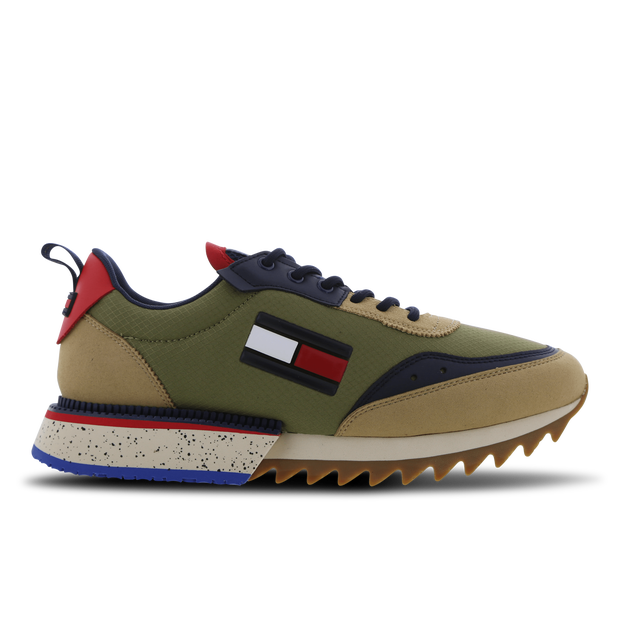 Tommy Jeans Cleated Runner Mix - Beige - Suède -