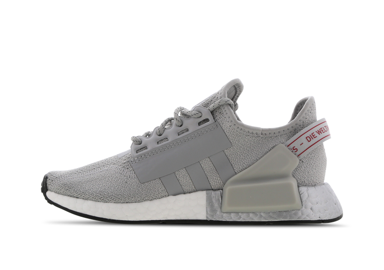 adidas nmd r1 v2 grey on feet