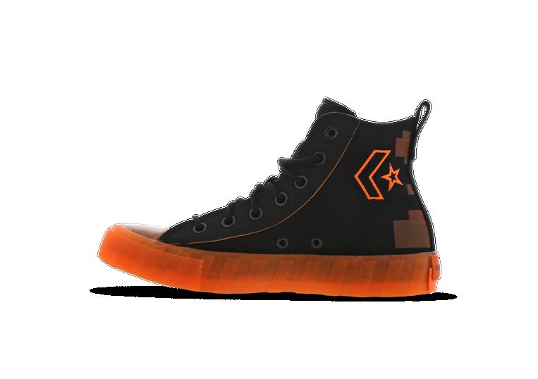 converse orange et noir