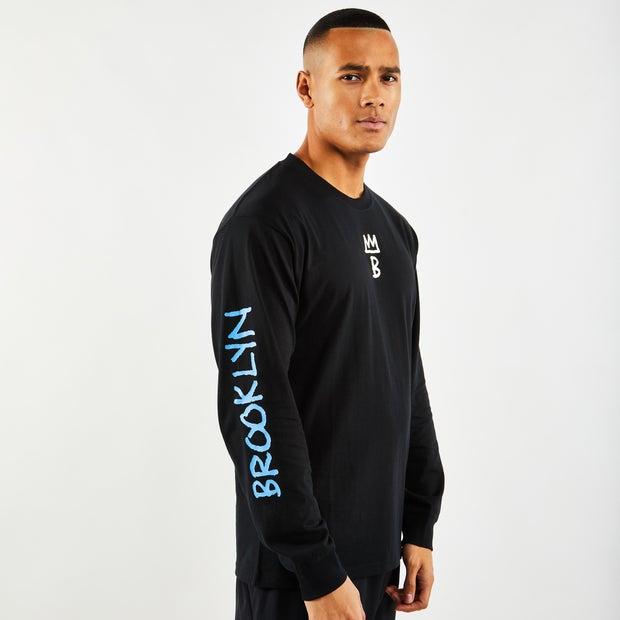 Nike Brooklyn Nets City Edition Long Sleeve Herren T Shirts