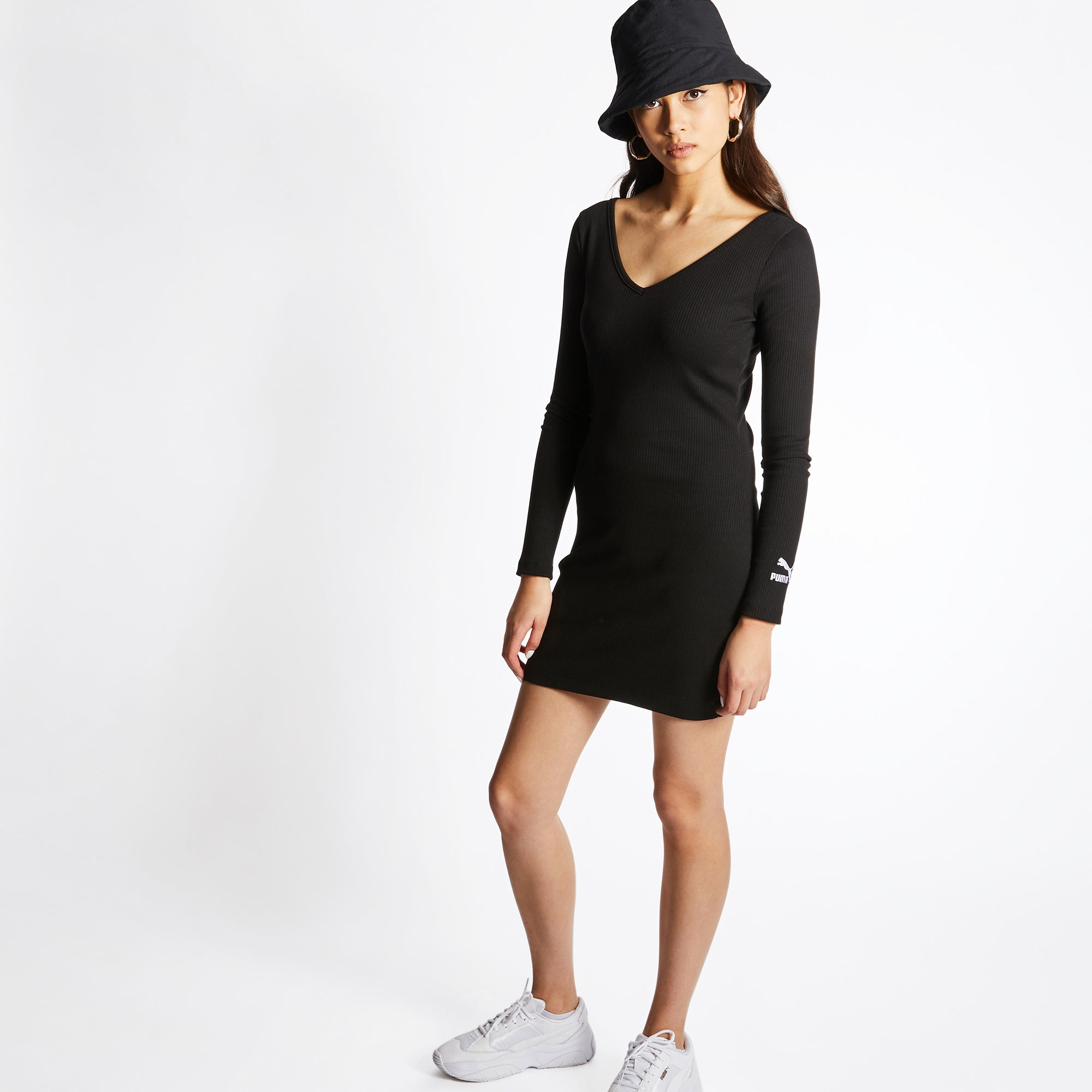 Puma Classic Rib Bodycon - Women Dresses - Image 2 of 4 Enlarged Image
