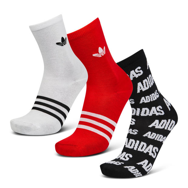 adidas 3Pack Thin Crew All Over Print - Unisex Socks