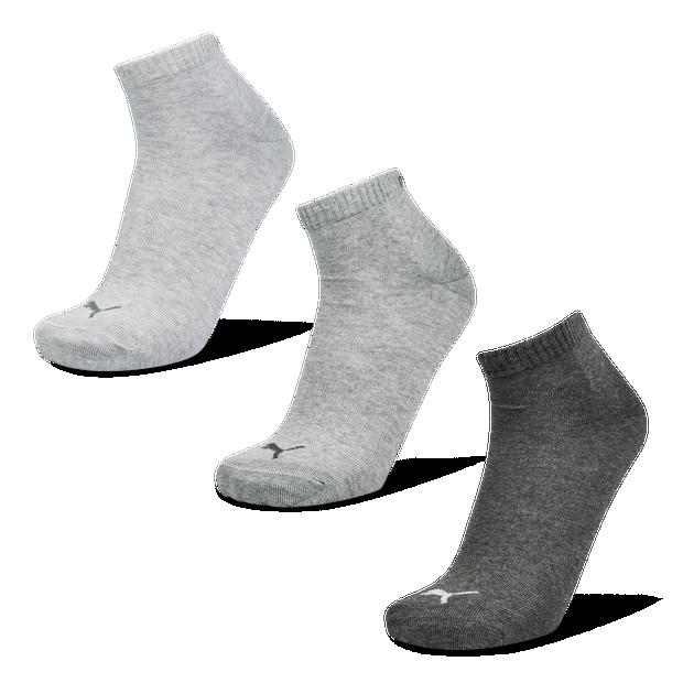 Puma Quarter Plain 3Pack Mix 39-42 - Unisex Socks