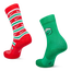Nike X-mas Smiley 2Pack Crew - Unisexe Chaussettes