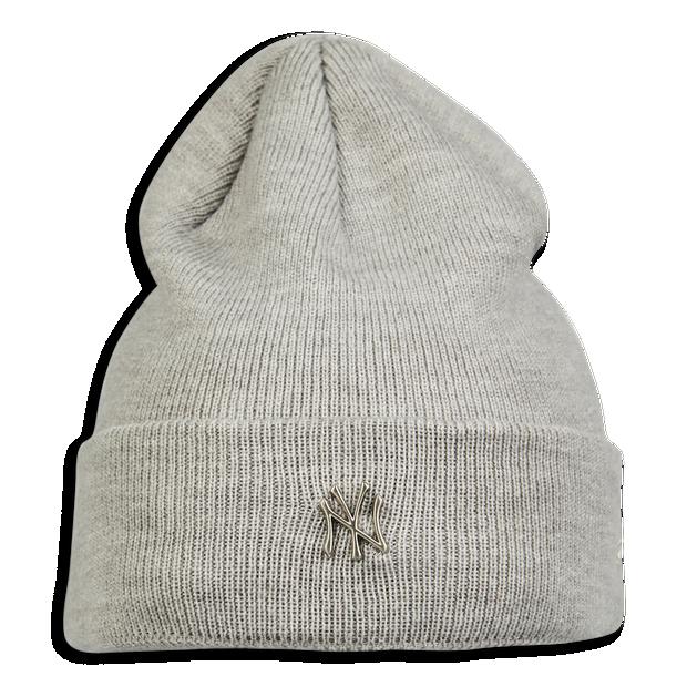 New Era Silver Logo Beanie - Unisex Knitted Hats & Beanies