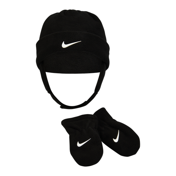 Nike Baby Swoosh Beanie&gloves Set - Unisex Knitted Hats & Beanies