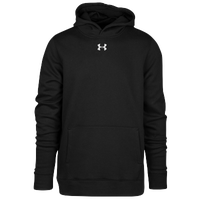 Under Armour Team Hustle Fleece Hoodie - Boys' Grade School - All Black / Black