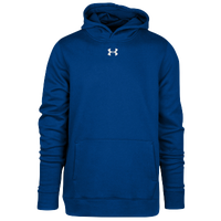 Under Armour Team Hustle Fleece Hoodie - Boys' Grade School - Blue / Blue