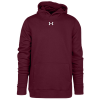 Under Armour Team Hustle Fleece Hoodie - Boys' Grade School - Maroon / Maroon