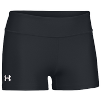"Under Armour Team on the Court 3"" Shorts - Women's - All Black / Black"