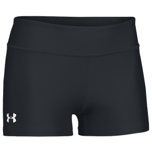 "Under Armour Team on the Court 3"" Shorts - Women's - Black/White"