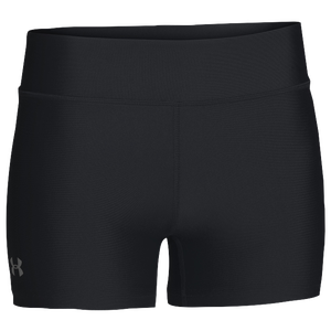 "Under Armour Team on the Court 4"" Shorts - Women's - Black/White"
