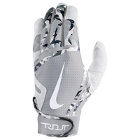 Nike Trout Edge Batting Gloves - Men's - White / Grey