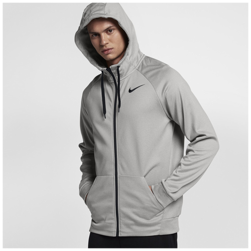 b5b989c3a Nike Therma Full Zip Hoodie - Men's - Training - Clothing - Grey ...