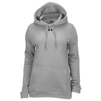 Under Armour Team Hustle Fleece Hoodie - Women's - Grey / Grey