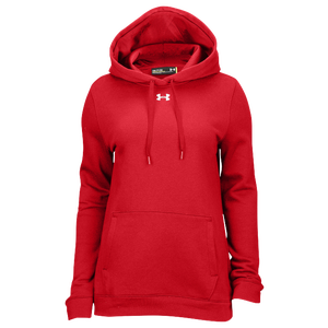 Under Armour Team Hustle Fleece Hoodie - Women's - Red/White