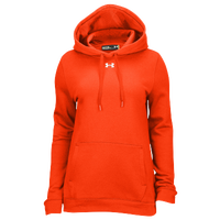 Under Armour Team Hustle Fleece Hoodie - Women's - Orange / Orange
