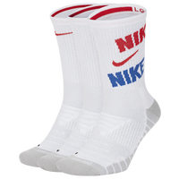 Nike 3 Pack Dri-FIT Max Crew Sock - Men's - White