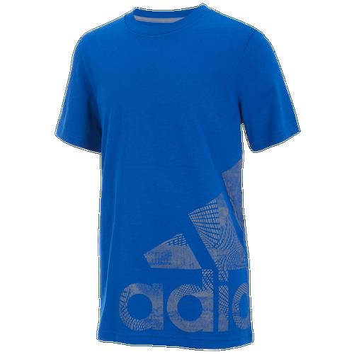 18838cb07e11 adidas Supreme Logo Short Sleeve T-Shirt - Boys  Grade School - adidas -  Casual - Collegiate Royal
