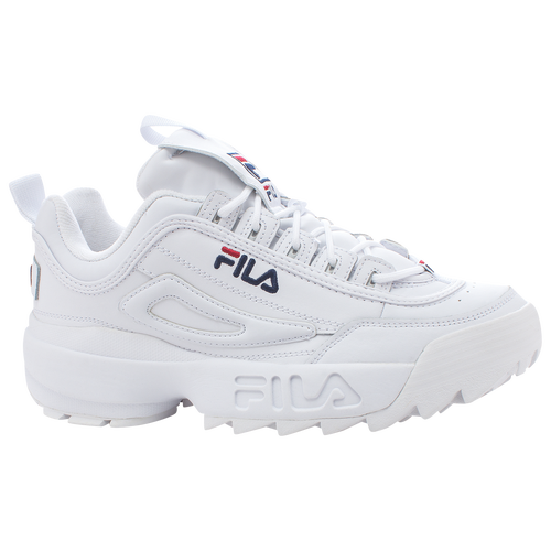 Fila Disruptor II - Men's Casual - White/Peacoat/Red 01655111