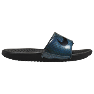 Nike Kawa Slide - Girls' Preschool - Blue Hero/Black/Aurora Green