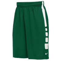 Nike Team Elite Practice Shorts - Men's - Dark Green / White